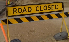 Rental store for ROAD CLOSED  SIGN in Sydney NSW