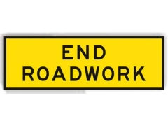Rental store for END ROADWORK  SIGN in Sydney NSW