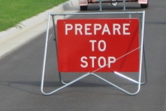 Rental store for PREPARE TO STOP  SIGN in Sydney NSW