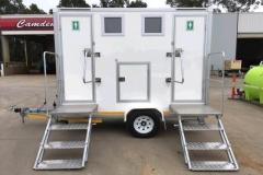 Rental store for DELUXE DOUBLE TOILET TRAILER in Sydney NSW